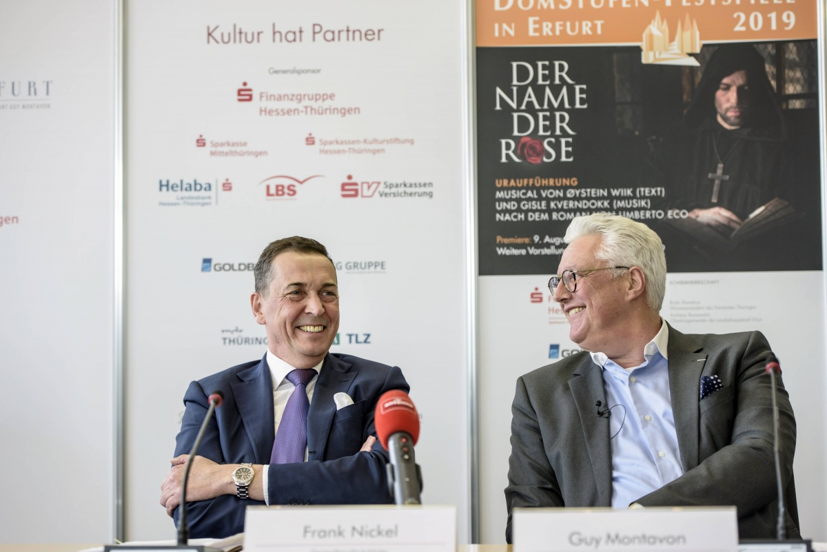 Pressekonferenz 27.03.2019 | Der Name der Rose | Frank Nickel, Guy Montavon